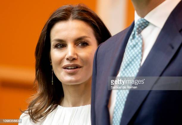 Queen Letizia of Spain attends FITUR fair at Ifema on January 23 2019 in Madrid Spain