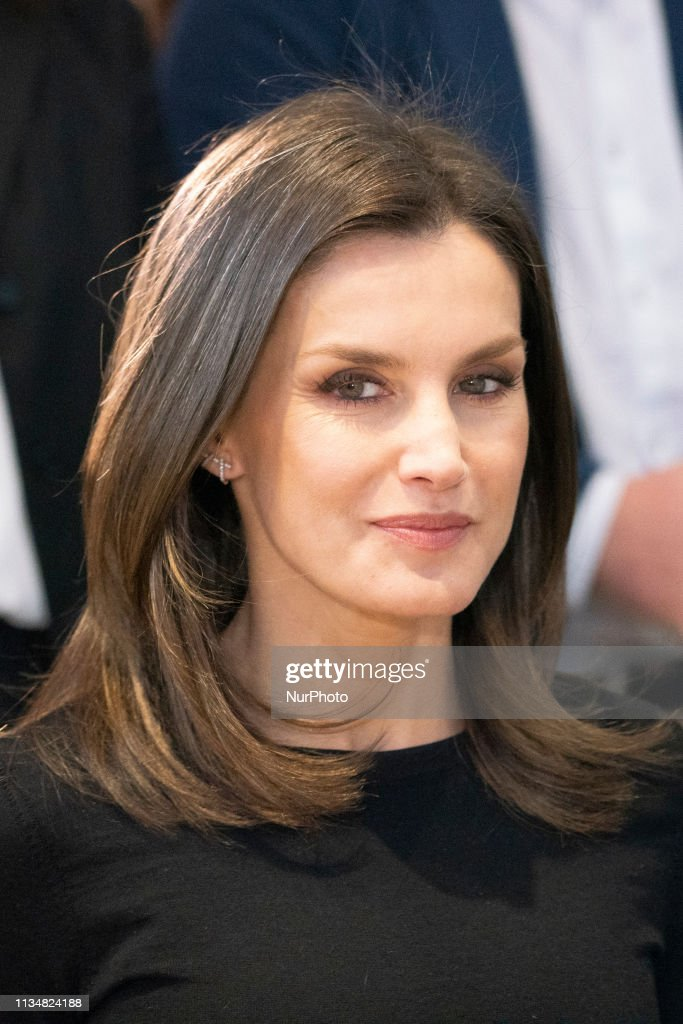 Queen Letizia Of Spain Attends Formate Project Presentation In Madrid : News Photo