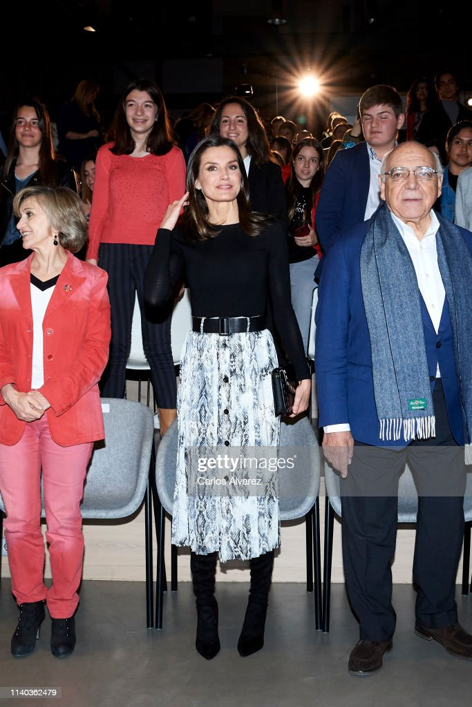 ESP: Queen Letizia Of Spain Attends '(IN) Formate' Project Presentation In Madrid