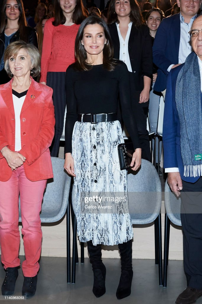 Queen Letizia Of Spain Attends '(IN) Formate' Project Presentation In Madrid : News Photo