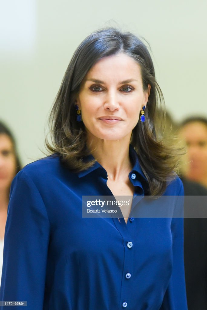 Queen Letizia Of Spain Attends Forum About Disability : News Photo