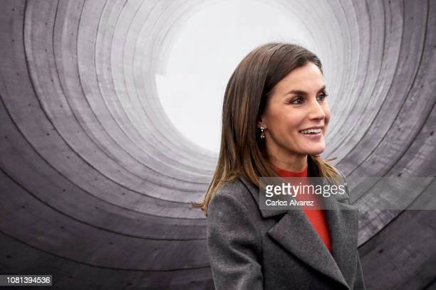 Queen Letizia of Spain attends Foundation Against Drugs meeting at the Repsol Campus on December 12 2018 in Madrid Spain