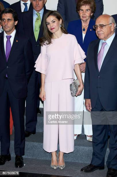 Queen Letizia of Spain attends 'Foundation Against Drugs' meeting at Distrito Telefonica on July 4 2017 in Madrid Spain