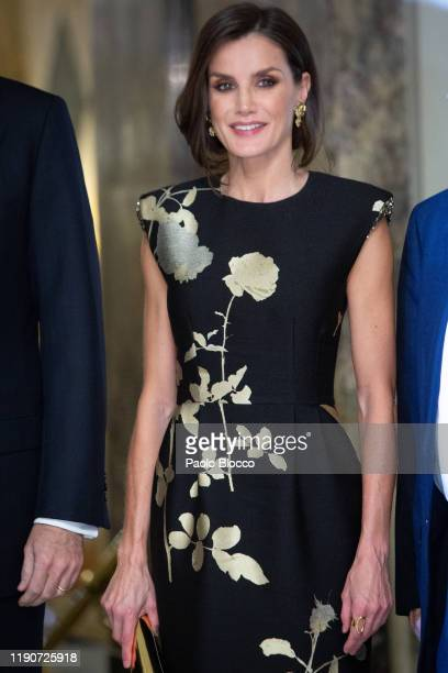 Queen Letizia of Spain attends 'Francisco Cerecedo' Awards 2019 at Westin Palace hotel on November 28 2019 in Madrid Spain
