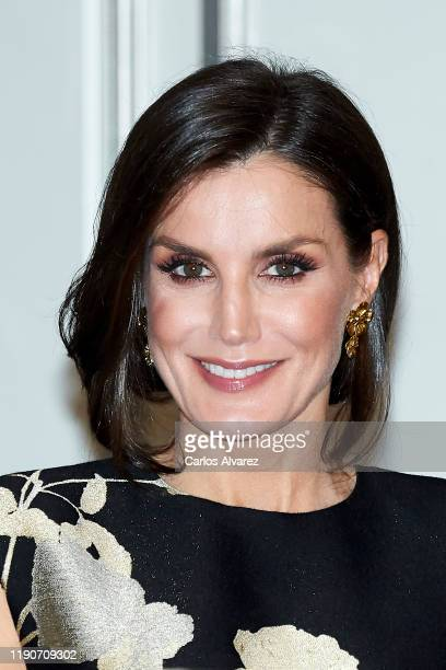 Queen Letizia of Spain attends 'Francisco Cerecedo' awards 2019 at the Palace Hotel on November 28, 2019 in Madrid, Spain.
