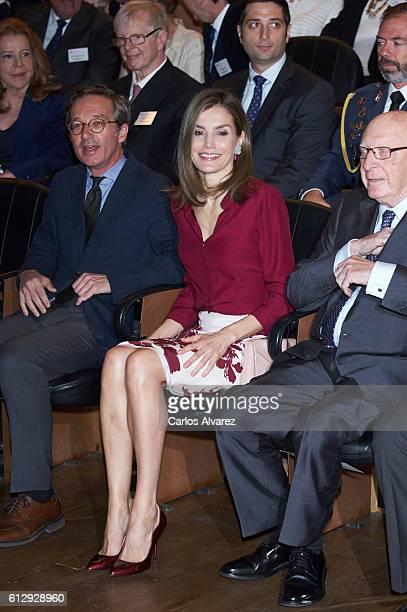 Queen Letizia of Spain attends 'Friends of Prado Museum Foundation' meeting at El Prado Museum on October 6 2016 in Madrid Spain