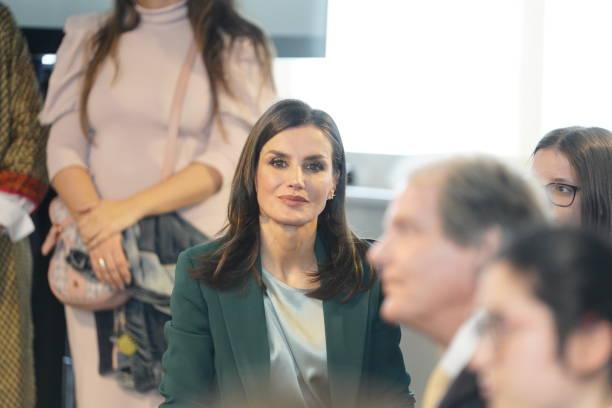ESP: Queen Letizia of Spain Attends 'Fundacion Princesa De Girona' Awards In A Coruna