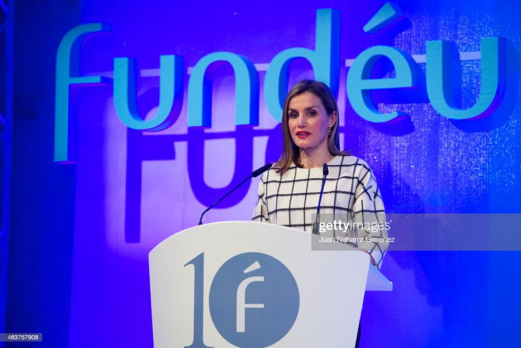 Queen Letizia Attends Fundeu 10th Anniversary : News Photo