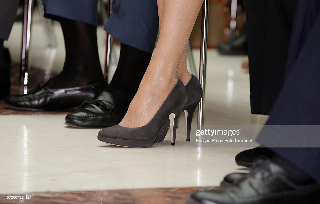 Queen Letizia of Spain Attends 'Heart Guide' Presentation : News Photo