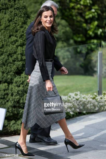 Queen Letizia Of Spain attends 'Internaitonal Friendship Award' 2019 at IESE Campus on October 30 2019 in Madrid Spain
