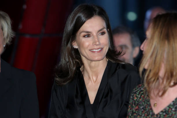 Queen Letizia of Spain attends 'International Day of Safe Internet' inauguration at Museum Reina Sofia on February 11 2020 in Madrid Spain