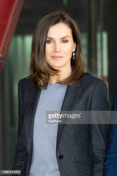 Queen Letizia of Spain attends 'International Day of Safe Internet' on February 05, 2019 in Madrid, Spain.