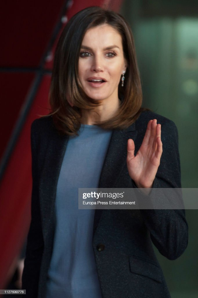 ESP: Queen Letizia of Spain Attends 'International Day of Safe Internet' Event in Madrid