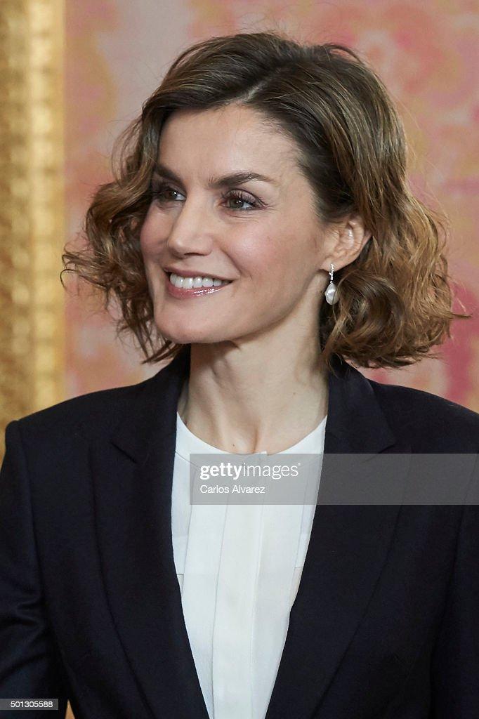 Spanish Royals Meet 'Princesa De Girona' Foundation : News Photo