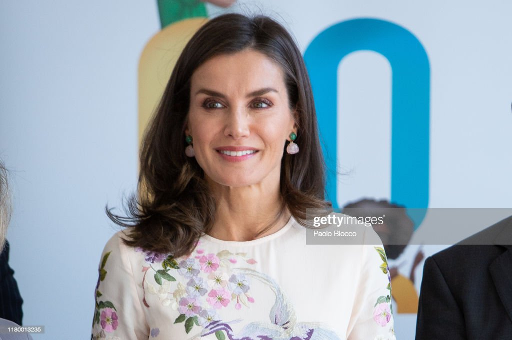 Queen Letizia Attends 'Mental Health World day' Event In Madrid : News Photo