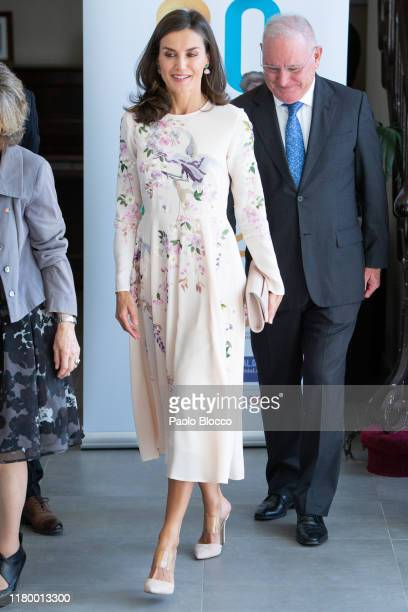 Queen Letizia Of Spain attends Mental Health's Day 2019 event at Teatro La Latina on October 09 2019 in Madrid Spain