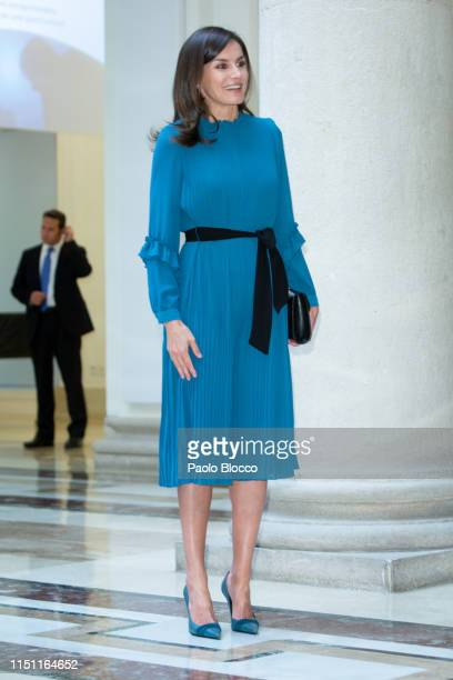 Queen Letizia of Spain attends 'Microfinanzas BBVA' Foundation debate at BBVA on May 23 2019 in Madrid Spain