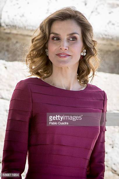 Queen Letizia of Spain attends 'National Culture Awards' at San Antolin Cathedral on June 1 2016 in Palencia Spain