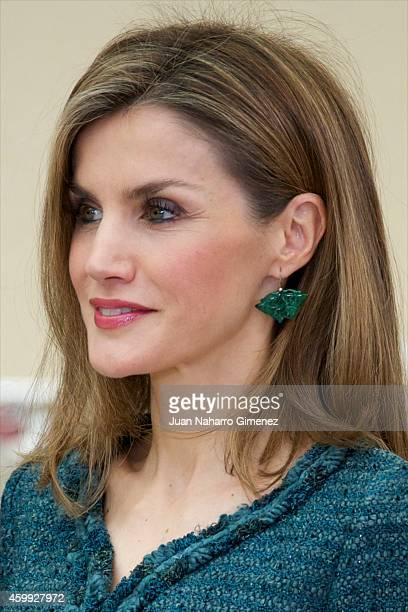 Queen Letizia of Spain attends National Sport Awards 2013 at Royal Palace of El Pardo on December 4 2014 in Madrid Spain