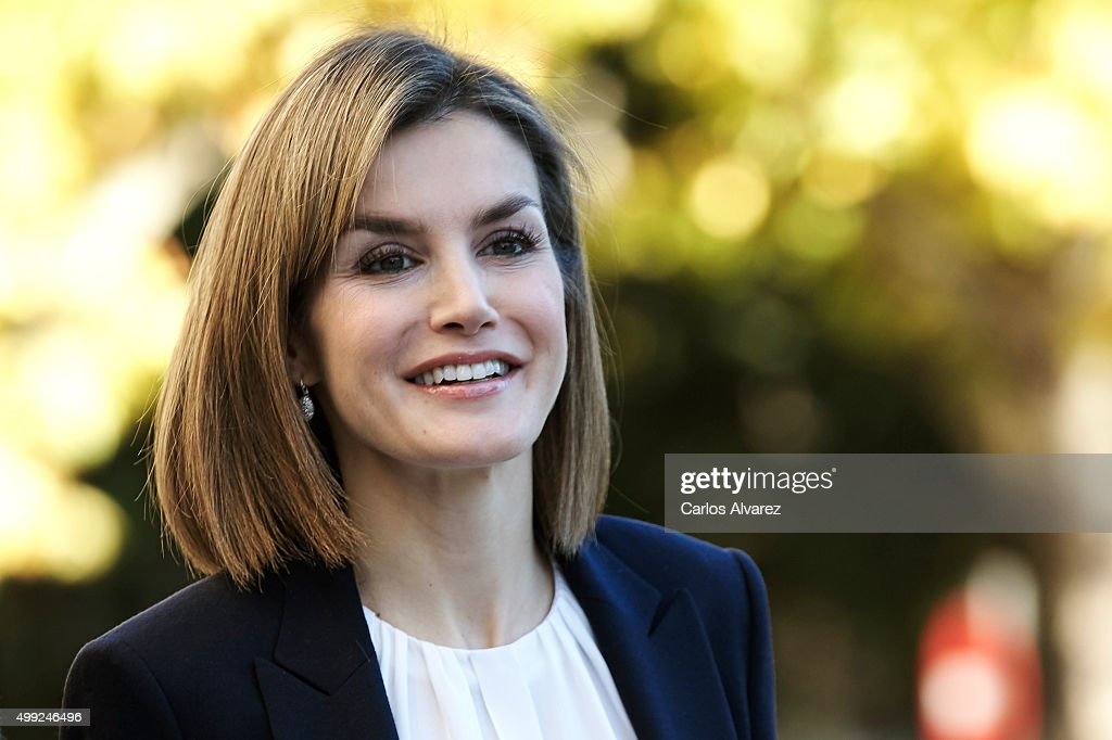 Queen Letizia Attends Nutrigenomics Seminar in Madrid