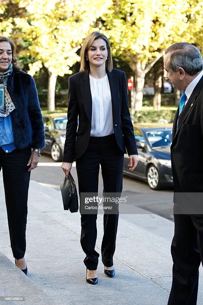 Queen Letizia Attends Nutrigenomics Seminar in Madrid : News Photo