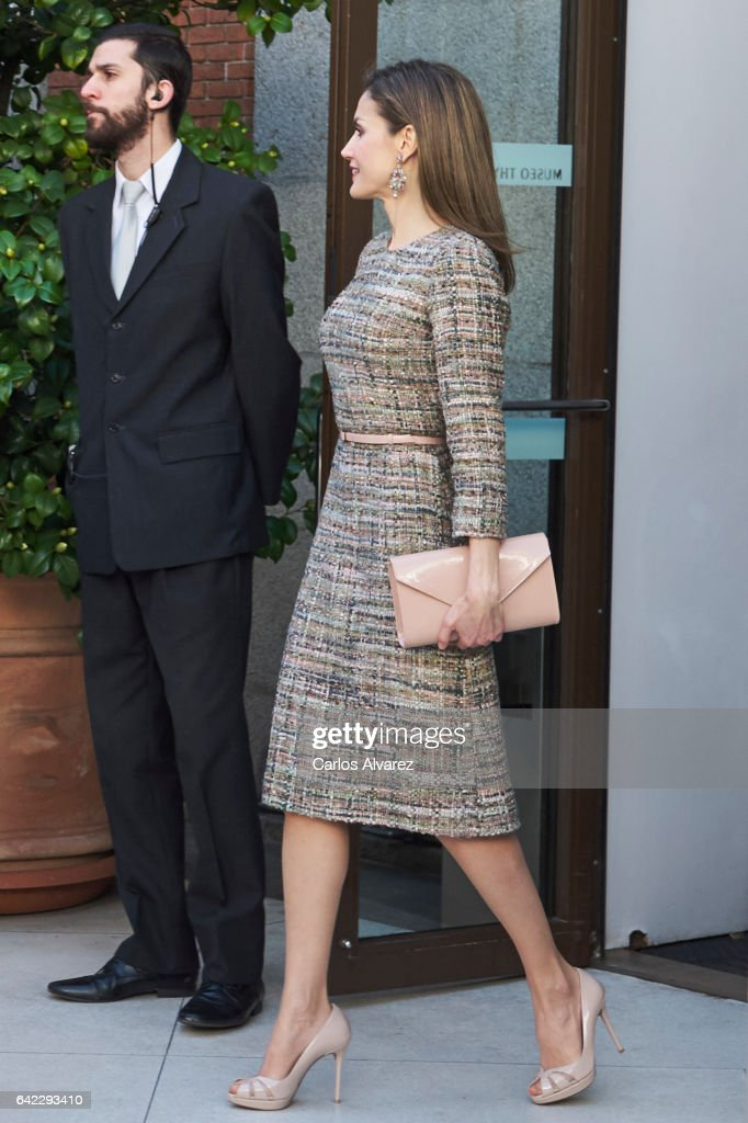 Spanish Royals Attend Exhibition Opening at Thyssen Bornemisza Museum : News Photo
