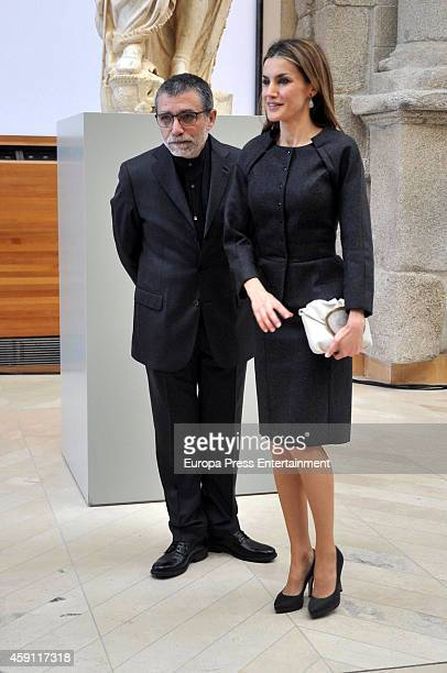 Queen Letizia of Spain attends 'Plastic Arts Velazquez Award' to Jaume Plensa at Prado Museum on November 17 2014 in Madrid Spain