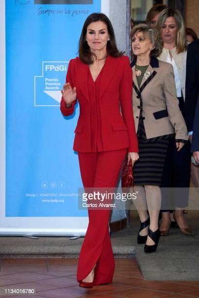 Queen Letizia of Spain attends Premio Fundacion Princesa de Girona 2019 at San Francisco cultural center on March 06 2019 in Caceres Spain