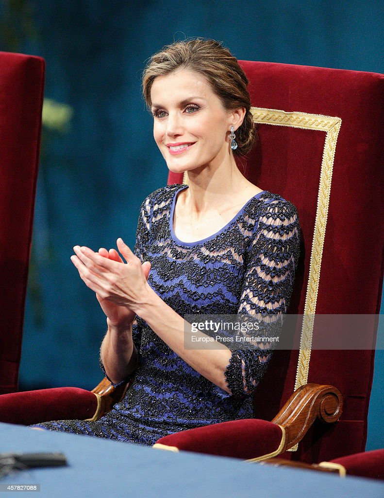 Queen Letizia of Spain attends Prince of Asturias Awards 2014 on October 24, 2014 in Oviedo, Spain.