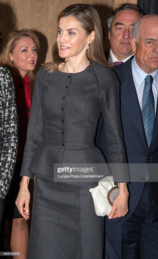 Queen Letizia Of Spain Attends 'Proyecto Promociona' : News Photo