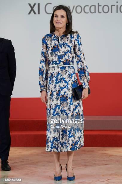Queen Letizia of Spain attends 'Proyectos Sociales De Banco Santander' awards on May 20 2019 in Madrid Spain