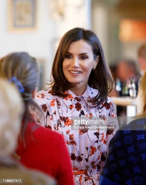 Queen Letizia of Spain attends 'Rastrillo Nuevo Futuro' on November 19 2019 in Madrid Spain