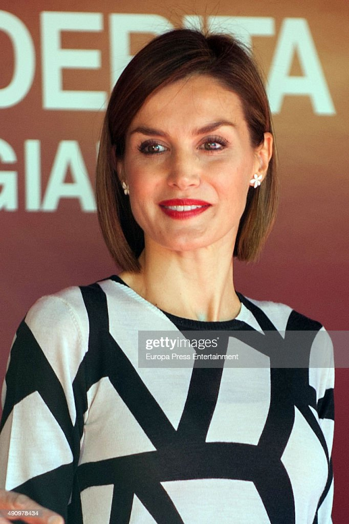 Queen Letizia of Spain Attends the Red Cross World Day : News Photo