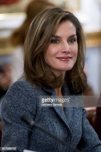 Queen Letizia of Spain attends 'Reina Letizia' awards at El Pardo Palace on November 21 2017 in Madrid Spain