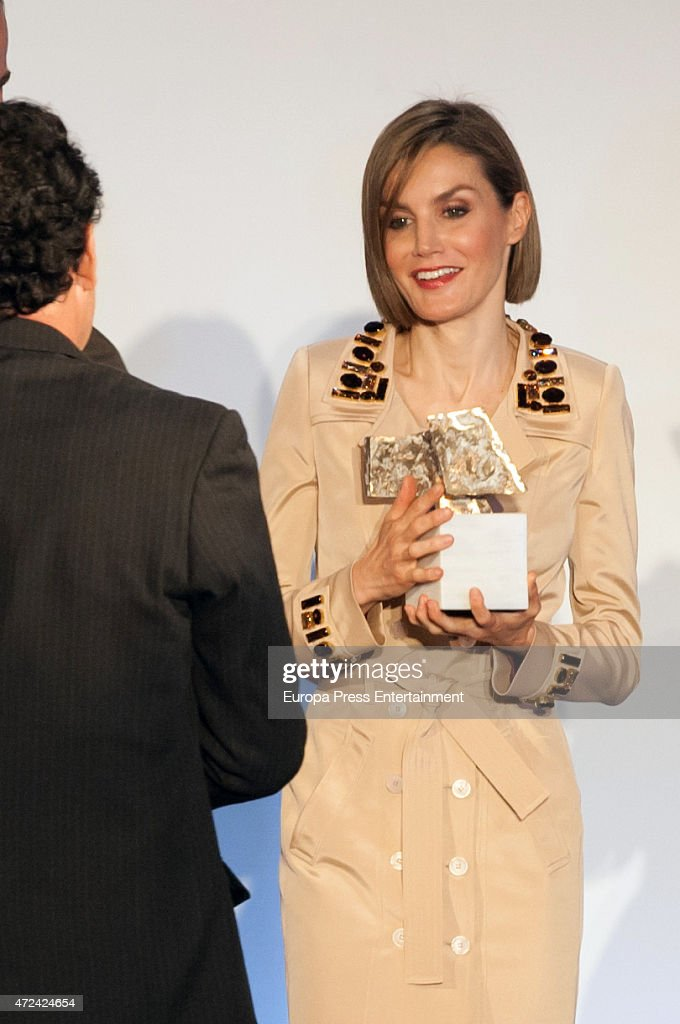 Spanish Royals Attend 'Rey de Espana' and 'Don Quijote' Journalism Awards 2015 : News Photo