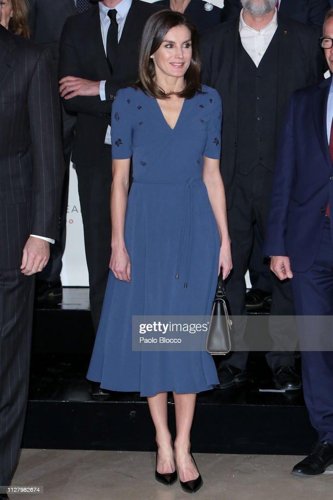 Spanish Royals Meet Royal Theatre Foundation in Madrid : News Photo