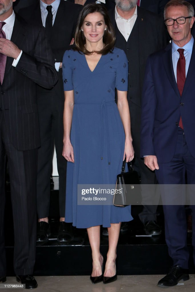 Spanish Royals Meet Royal Theatre Foundation in Madrid : News Photo