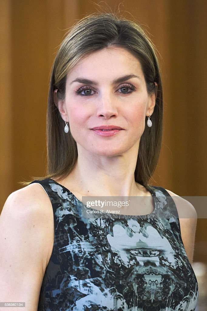 Queen Letizia of Spain attends several audiences at the Zarzuela Palace on June 6, 2016 in Madrid, Spain.