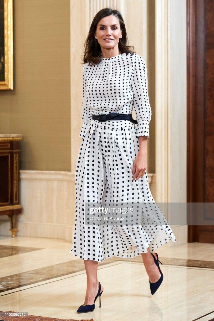 Spanish Royals Attend Audiences At Zarzuela Palace : News Photo