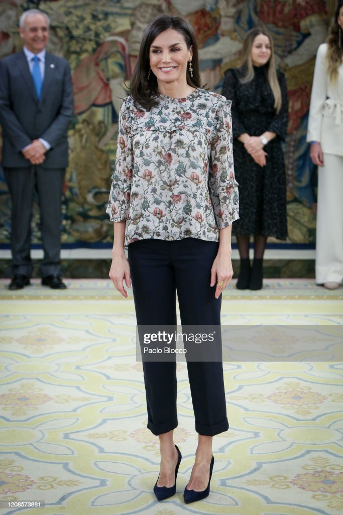Spanish Royals Attend Audiences At Zarzuela Palace : News Photo
