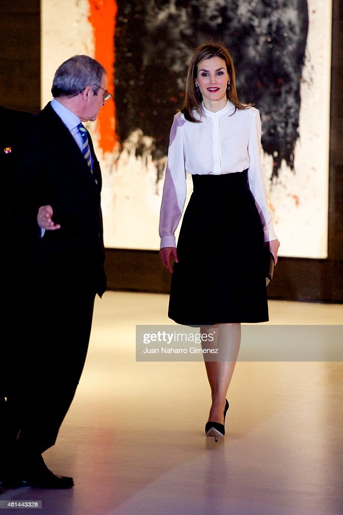 Queen Letizia of Spain attends 'Telefonica Ability Awards 2015' at Telefonica Sede on January 12, 2015 in Madrid, Spain.