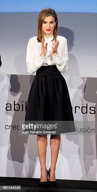 Queen Letizia of Spain attends 'Telefonica Ability Awards 2015' at Telefonica Sede on January 12 2015 in Madrid Spain