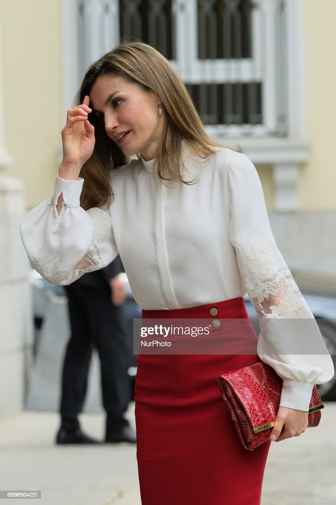 Queen Letizia Of Spain Attends 10th Anniversary Of 'Microfinanzas BBVA' Foundation : News Photo