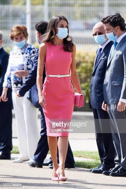 Queen Letizia of Spain attends the 125th anniversary of 'El Heraldo De Aragon' newspaper on September 16 2020 in Zaragoza Spain