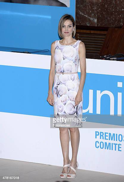 Queen Letizia of Spain attends the 2015 UNICEF Awards Ceremony at the CSIC on June 23 2015 in Madrid Spain
