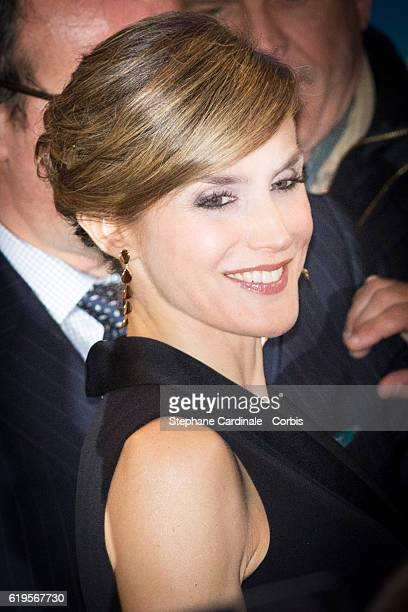 Queen Letizia of Spain attends the 2016 World Cancer Congress Delegate Services at Palais des Congres on October 31 2016 in Paris France