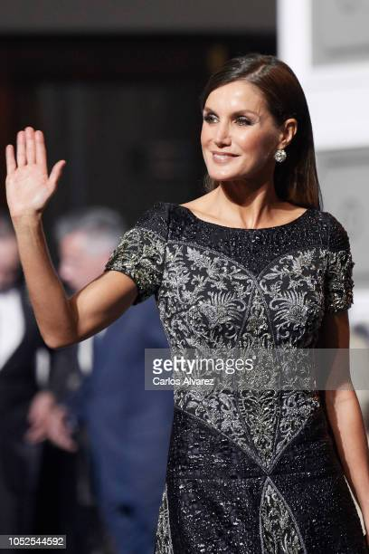 Queen Letizia of Spain attends the 2018 Princess of Asturias Awards at the Campoamor Teather on October 19 2018 in Oviedo Spain