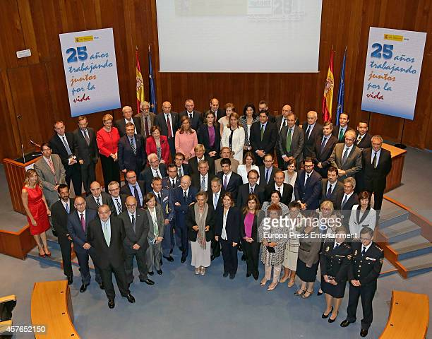 Queen Letizia of Spain attends the 25th Anniversary of the Spanish Transplant Organization on October 22 2014 in Madrid Spain