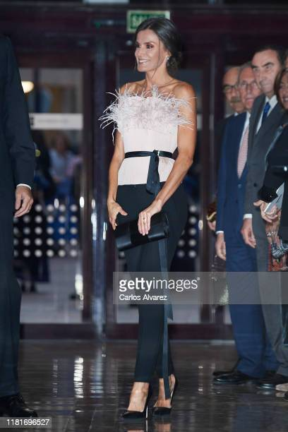 Queen Letizia of Spain attends the 28th Princess of Asturias Awards Concert at Prince Felipe Auditorium during the 'Princess of Asturias Awards 2019'...