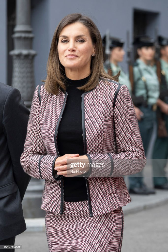 Queen Letizia Attends 30th Anniversary of The Incoming Of The Women Into The Civil Guard : News Photo
